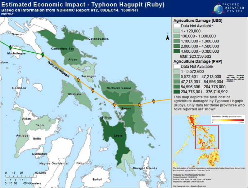 Tropical Cyclone Hagupit impacts islands throughout the Philippines