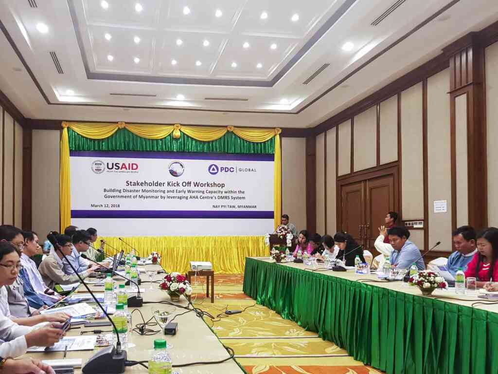 Kick off meeting held to bring early warning support to Myanmar