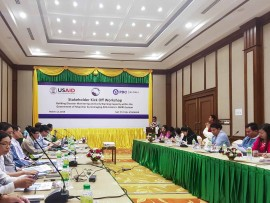 Key representatives of Myanmar's Disaster Management Community convene for kick-off meeting in Nay Pyi Taw with PDC, USAID/OFDA, and AHA Centre.