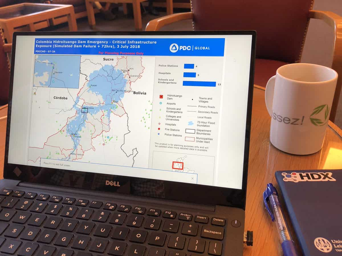 PDC demonstrates how UNOCHA's HDX data was used to produce potential impact analysis for officials responding to Columbia's Hidroituango Dam emergency.