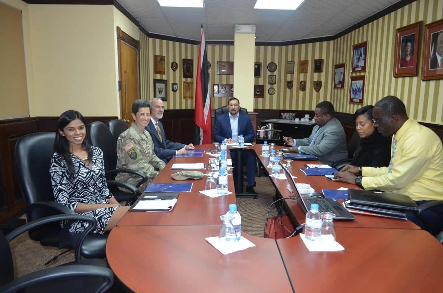 Young meets with US SOUTHCOM on Disaster Risk Reduction