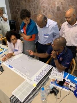 Cabo Verde disaster officials do a hazard mapping exercise