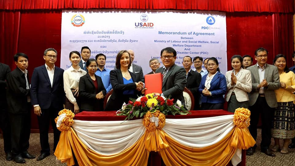 Lao PDR and PDC inaugurate early warning system program with agreement ceremony