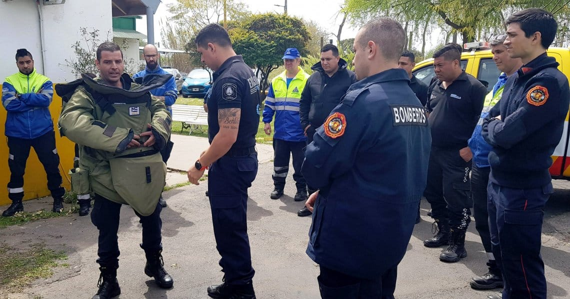 Argentina disaster professionals during exercise